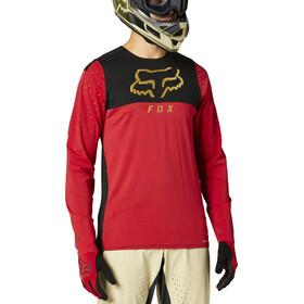 Fox Flexair Delta Maglia Jersey A Maniche Lunghe Uomo, rosso/nero